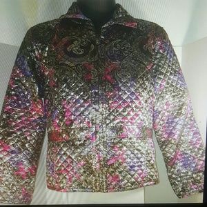 Chico's size medium quilted jacket