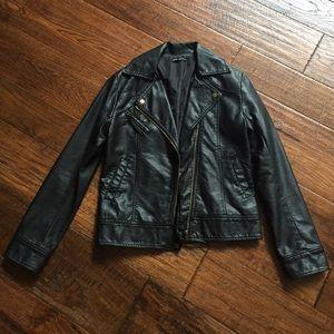 Faux leather Moto Jacket - Size S