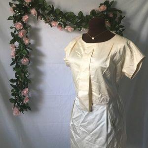 Vintage Cream Midi Cocktail Dress