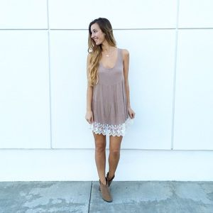 | new | lace trim dress