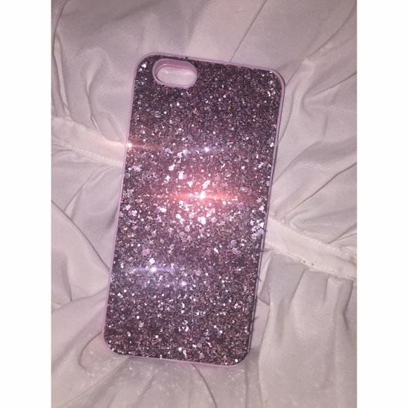 buy popular 09d65 f337f Victoria's Secret Pink Sparkly Mirror Phone Case