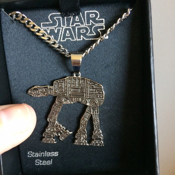 Star wars nwt star wars stainless steel necklace from for Reinforcements stainless steel jewelry