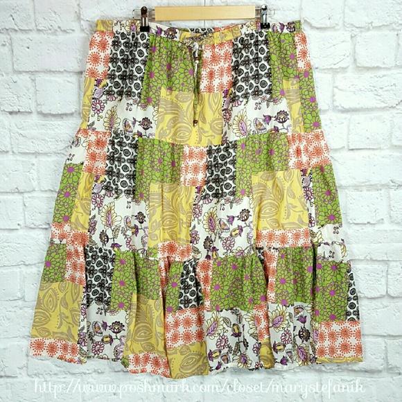 7320738b30 White Stag Skirts | Boho Patchwork Broom Skirt Size Xl 1618 | Poshmark