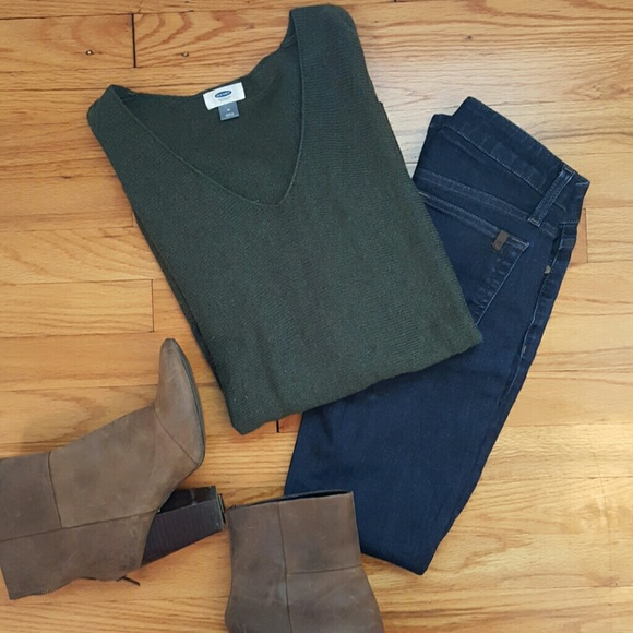 51% off Old Navy Sweaters - Old Navy Dark Green Tunic Sweater from ...