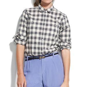 Madewell Checkbox Ex-Boyfriend Shirt
