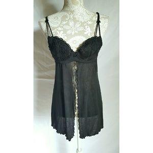 Black teddy lingerie size medium