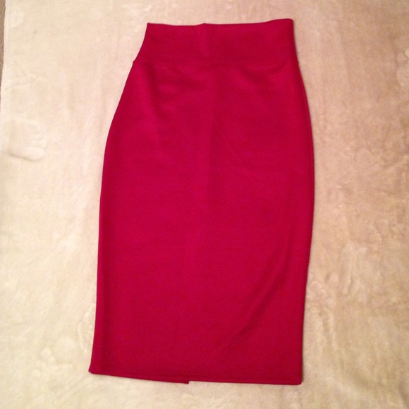 73% off Dresses & Skirts - Wine colored pencil skirt with slit in ...