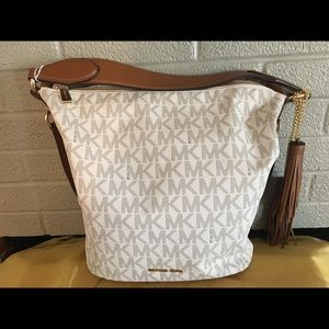 Michael Kors Handbags - Michael Kors Canvas and Leather Satchel