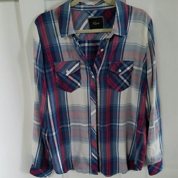 7d074b789e72c Rails Tops | Maternity Plaid Button Down Shirt | Poshmark