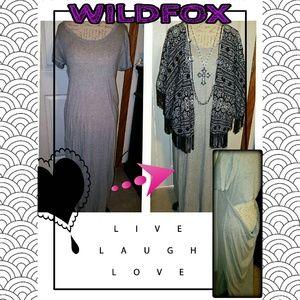 New! WILDFOX Open Scoop Back Maxi Dress..Sz Large