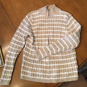 L.L. Bean zip up sweater