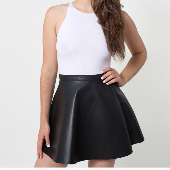really cheap shades of official site American Apparel Genuine Leather Circle Skirt NWT