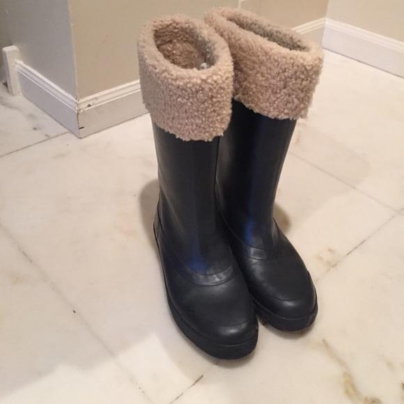 92ba11544d1 ugg fur lined rain boots