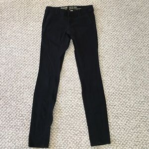 Mossimo low rise black skinny jeans size 0