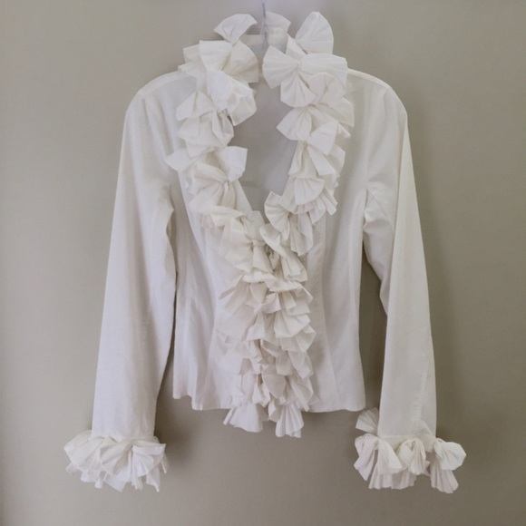 296d526e Anne Fontaine Tops - Stunning Anne Fontaine ruffled white shirt