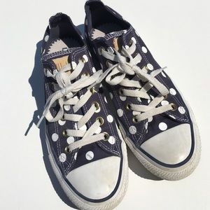 Converse Shoes - Converse Blue White Polka Dot Sneakers 5 1/2