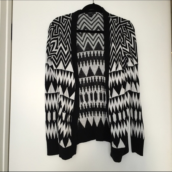 55% off Forever 21 Sweaters - Forever 21 Black and White Cardigan ...
