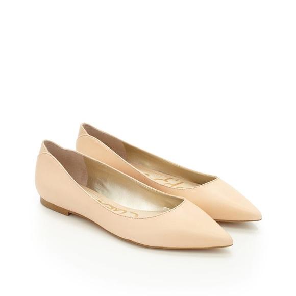 7c96707a5 Sam Edelman Rae Pointed Toe Leather Flats. M 57b39139bcd4a7d4cb0b04da