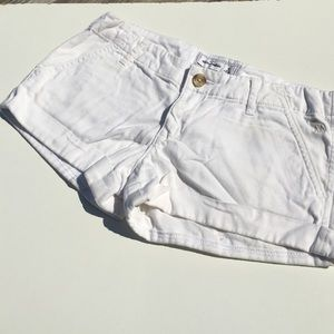 abercrombie kids Other - Abercrombie Kids Girls White Shorts Cuffs 16