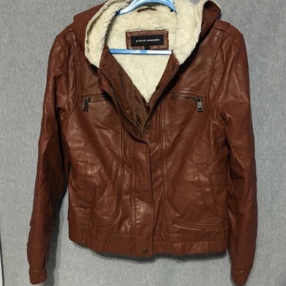 9fc45fb3c6f2c Steve Madden light brown jacket. Size large. M 57b393915c12f8d9ce0af300