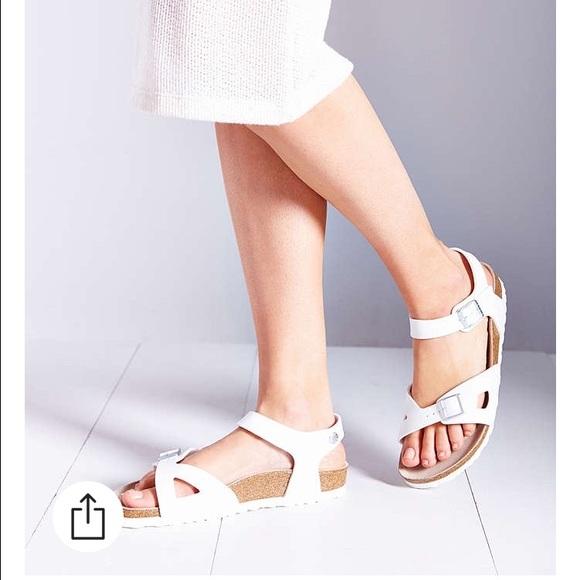 ca3351de554b White Birkenstock Rio Ankle Strap Sandals 39