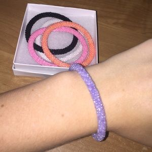Jewelry - Solid purple authentic Lily and Laura bracelet