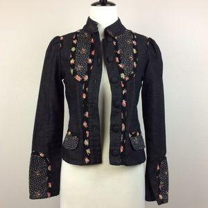 Ted Baker Jackets & Blazers - ✨HP Sale✨Ted Baker Dark Denim Floral Jacket