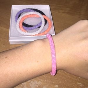 Jewelry - Solid pink authentic Lily and Laura bracelet