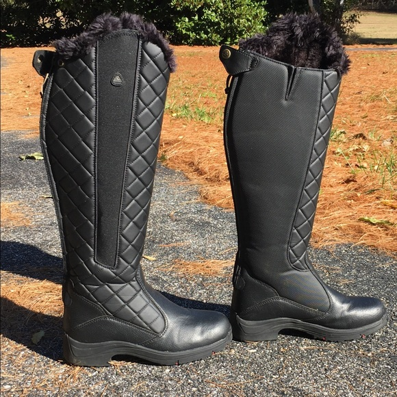 on feet images of best sell top style Mountain horse ladies winter riding boot