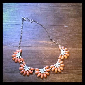 Statement half flower necklace