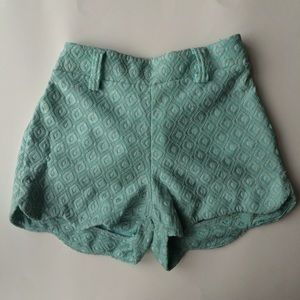 High-waisted Mint Shorts