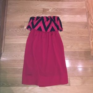 Dresses & Skirts - Red strapless dress