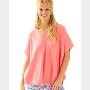 Lilly Pulitzer Zoe Cashmere Poncho Sweater