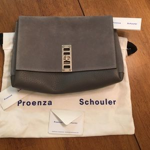 Proenza Schouler Handbags - Never worn Authentic Proenza Schouler Gray clutch