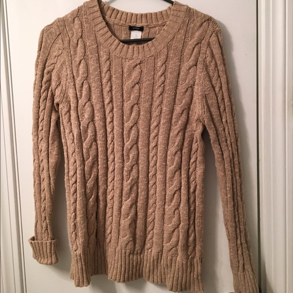 71% off J. Crew Sweaters - Tan cable knit J Crew women's sweater ...