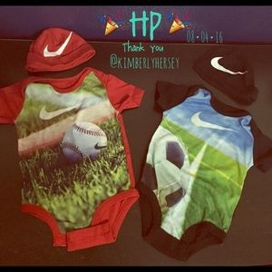 Two Nike onesies set! Take 2 for the price of one!
