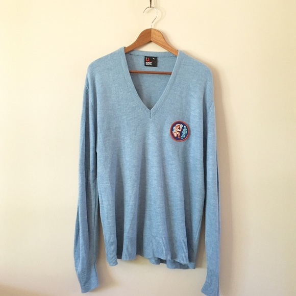 Vintage - 80s / Age of Aquarius Dusty Blue Sweater from ...