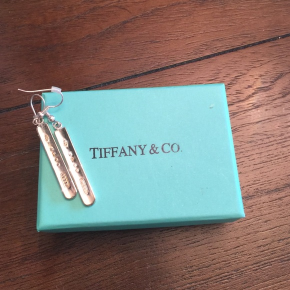 57a06b93b Tiffany & Co. Jewelry | Saletiffany Co 1837 Bar Drop Dangle Earrings ...