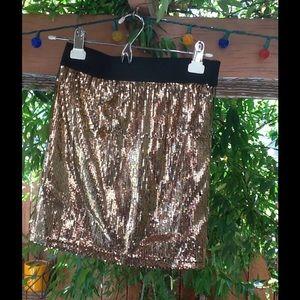 Women's Sequins Mini Skirt Small