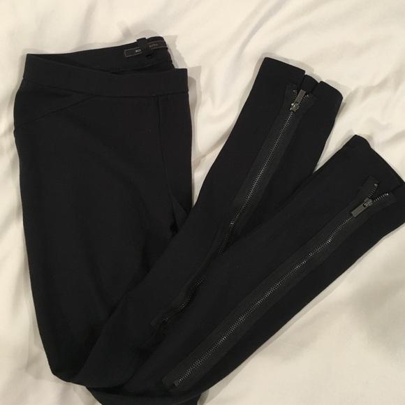 d8aa4a2a51f139 BCBGMaxAzria Pants | Bcbg Leggings Black With Zipper On Legs | Poshmark