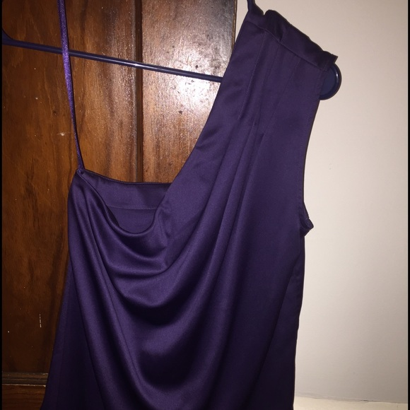 7acdc572ed12cb NWT The Limited Deep Purple One shoulder top