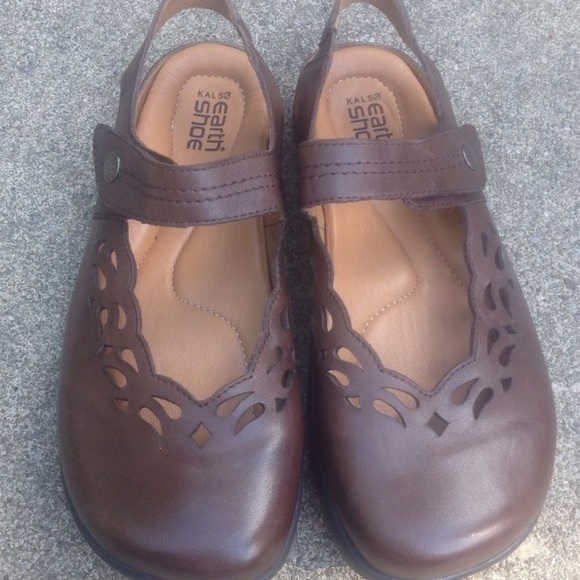 974e54db2a Earth Shoes - Earth Shoes Kalso Brown Mary Jane Flats 8.5B