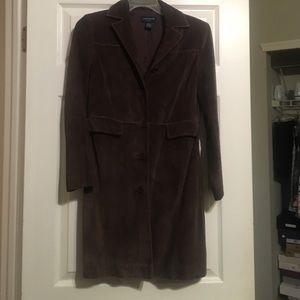 Ann Taylor brown Suede car coat