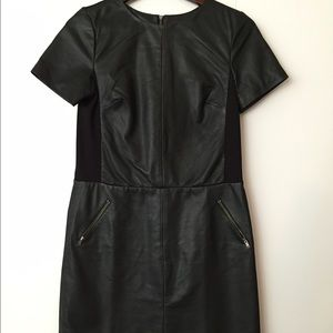 Halogen Leather Dress