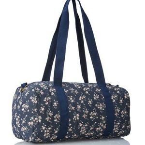Canvas Floral Print Duffel Bag