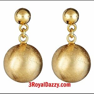 3 Royal Dazzy  Jewelry - 925 Silver Round Dangling Ball Earrings 12mm