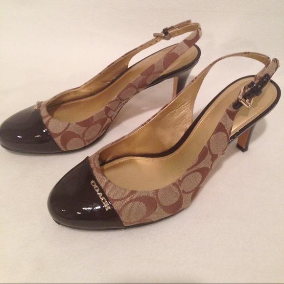 91 coach shoes coach slingback stiletto high heels