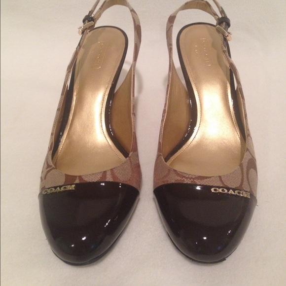 91% off Coach Shoes - COACH Slingback Stiletto High Heels ...