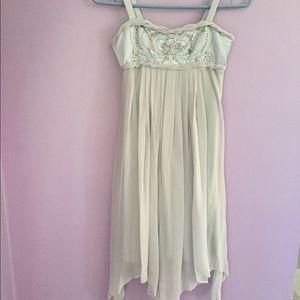 Sara Sara Other - ⚡️REDUCED GIRLS pearl gray 100% silk dress
