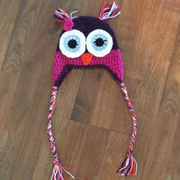 Homemade Accessories Crochet Owl Hat Poshmark